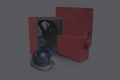 Pressurizzazione locali filtri fumo