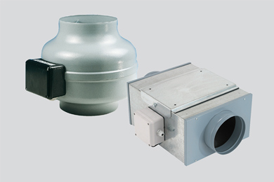 Ventilatori centrifughi in linea