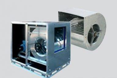 Ventilatori cassonati centrifughi a doppia aspirazione a trasmissione